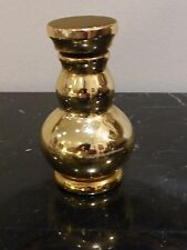Vintage Glass Golden Apothecary Medicine Bottle with Glass Stopper