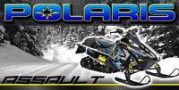 Terrain Dominator Polaris 800 Swichback ASSAULT RUSH Snowmobile Vinyl Banner