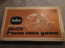 VTG 1959 Tudor Tru-Action Electric Horse Race Game Toy Jockey in Original Box