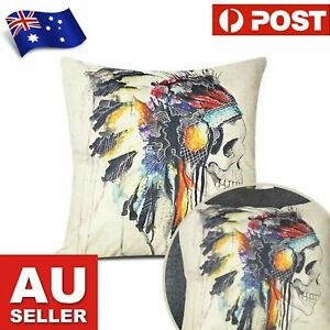Indian Skull Cushion Cover 45cm x 45xm - Pillow Case Cushion Cover