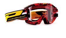 Progrip 3450 Topline Motocross LS Goggles Red -Black