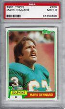 1981 Topps #209 Mark Dennard Miami Dolphins NFL PSA 9 MINT