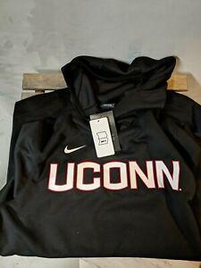 Nike UConn Huskies Basketball DriFit Logo Performance Pullover Hoodie M. NWT