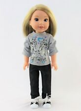 """Horse Best Friends Pant Set Fits 14.5"""" Wellie Wisher American Girl Doll Clothes"""
