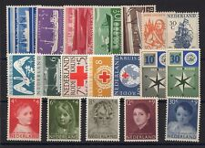 PAYS-BAS: ANNEE COMPLETE 1957 DE 19 TIMBRES NEUF** YTN°666/684 Cote: 70,00 €