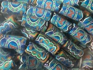 NEW 100 pieces Tube Beads Polymer Clay 9 x 18 mm