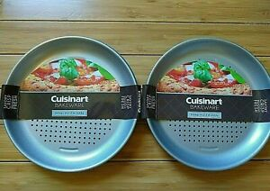 Cuisinart Bakeware Mini 7-inch Personal Pizza Pan Perforated Qty 8 New 2 Sets /4
