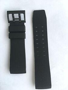 Original Hamilton BelowZero H785750 / H785850 Black Rubber Watch Band Strap