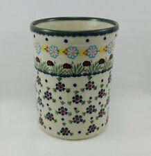 Bunzlauer Keramik Vase, Kochlöffelbehälter, Flaschenkühler, Marienkäfe(P082-IF45