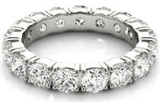 3.10 carat Diamond Eternity Ring 14k Gold Wedding Band Size 6, 20 x 0.15 ct each