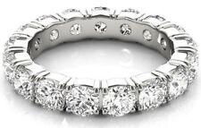 Band Size 6, 20 x 0.15 ct each 3.10 carat Diamond Eternity Ring 14k Gold Wedding