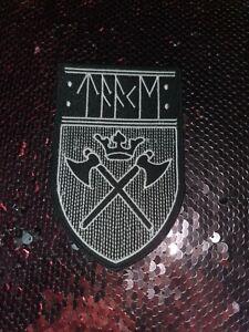 Taake SHAPE Patch Gestickt Shield Black Metal Tsjuder