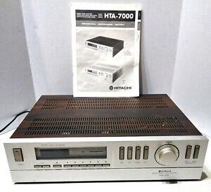 Hitachi HTA-7000 Wood Grain AM/FM Stereo Tuner Amplifier w/ Manual Tested