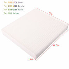 For Camry Toyota AC Cabin Air Filter Avalon Scion Tundra Sienna Prius 87139-0701