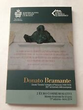 2014 san marino 2 euro commemorative donato bramante new with official folder