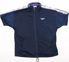 90s Vintage REEBOK Short Sleeve Track Jacket | Mens M | Tracksuit Retro Tape