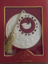 New Lenox China Partridge In A Pear Tree Ornament W/Box 24K Gold Trim