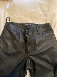 Black dorothy perkins 10leather Look Trousers