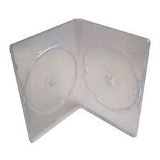50 x Amaray ORIGINALE DOPPIA FACCIA A FACCIA DVD chiaro caso da 14 mm SPINE-UK STOCK