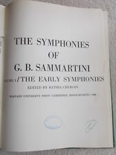 Sammartini Early Symphonies Orchestral Score + Info Harvard U Press Unmarked