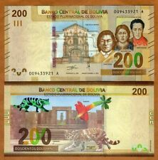 Bolivia, 200 Bolivianos, 2019 P-New, First redesign in 30 years, UNC