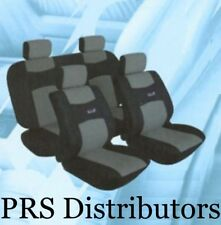 CAR SEAT COVERS GRAY BLACK PERFORMANCE RACING TEAM Seat Covers Synthetic Leather