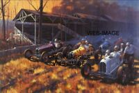 VINTAGE RACERS OF PAST AUTO RACING 12X18 POSTER DIRT TRACK SPRINT CAR INDY 500
