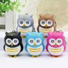 Cute Owl Keyring with LED Lights and Hooting Sound Novelty Key Rings Gifts 2017