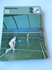 Fiche Card 1977 Badminton Un cousin du tennis