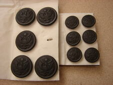 Original WW1 US Army Uniform Buttons 5 Lg. 6 Sm. MINT- NOS - Famous Pasquale Co.