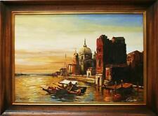 Barocke künstlerische Malereien auf Leinwand mit Landschafts- & Stadt-Motiv
