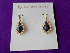 Kendra Scott NWT JUNIPER Drop Earrings in Blue Goldstone