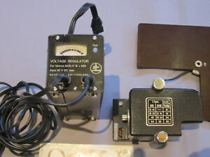 SWISS BOLEX DRIVE MOTOR REGULATOR, CABLES POWER SWITCH FOR 16MM MOVIE CAMERA