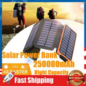 Solar Charger 2500000mAh Portable Solar Power Bank Waterproof Battery Packs