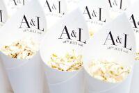 Wedding confetti cones personalised. Vogue style