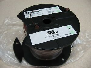 NEW Alpha Wire 1559 BK005 Wire, Hook Up MW, PVC, Black, 14 AWG, 2.08 mm², 100 ft