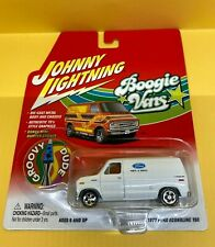 Johnny Lightning Boogie Vans 1977 Ford Econoline 150 WHITE LIGHTNING