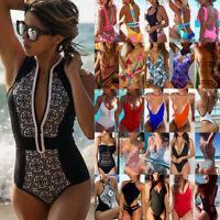 Women One-Piece Bikini Monokini Swimsuit Swimwear Push Up Beachwear Bathing Suit
