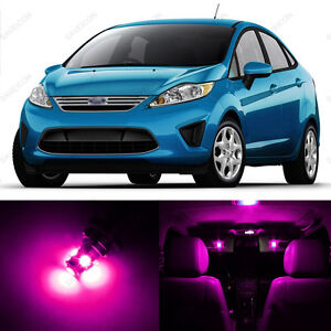 10 x Pink LED Interior Light Package For 2011 - 2017 Ford Fiesta + PRY TOOL