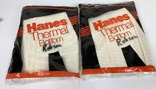 Vintage 80's Mens Large Hanes Thermal Bottom Underwear 50/50 Deadstock