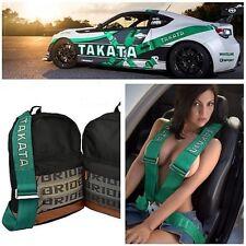 JDM BRIDE TAKATA Laptop Bag GREEN Harness Backpack Drift Race Track
