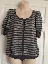 Women BHS Soft Knit Striped Cardigan Sz 16 Petite