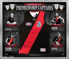 Essendon Sheedy & His Premiership Captains AFL Signed Framed Jumper Hird Daniher