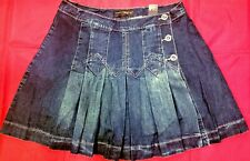 Venezia by Lane Bryant Pleated Jeans Skirt with Shorts Underneath- Size 16