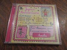 cd album bon anniversaire AMELIE joyeux anniversaire
