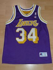 LA Lakers Shaquille O'Neal 34 NBA Basketball WENDE Trikot Champion L Shaq Jersey