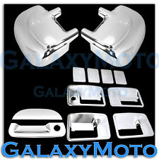 99-07 Ford Super Duty Chrome Mirror+4 Door Handle w/o PSG Keyhole+Tailgate Cover