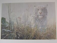MONSOON - WHITE TIGER  - JOHN SEERY-LESTER -  LIMITED EDITION ART PRINT