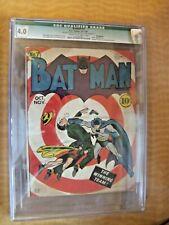 BATMAN  #7 1941 BULLSEYE-c/ JOKER APP. CGC 4.0 BOB KANE-c/a FINGER-s ROBINSON-a