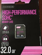NEW Infinitive 32GB High-Performance SDHC Memory Card